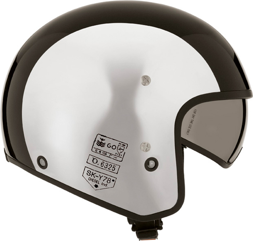 Diesel Hi-Jack Multi jet helmet silver chrome-black