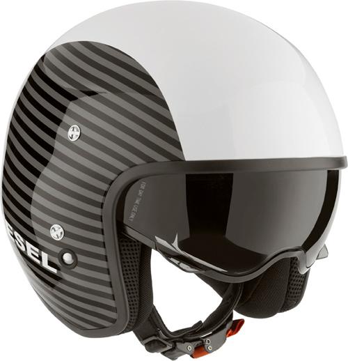Casco moto Diesel Hi-Jack Multi Stripes bianco