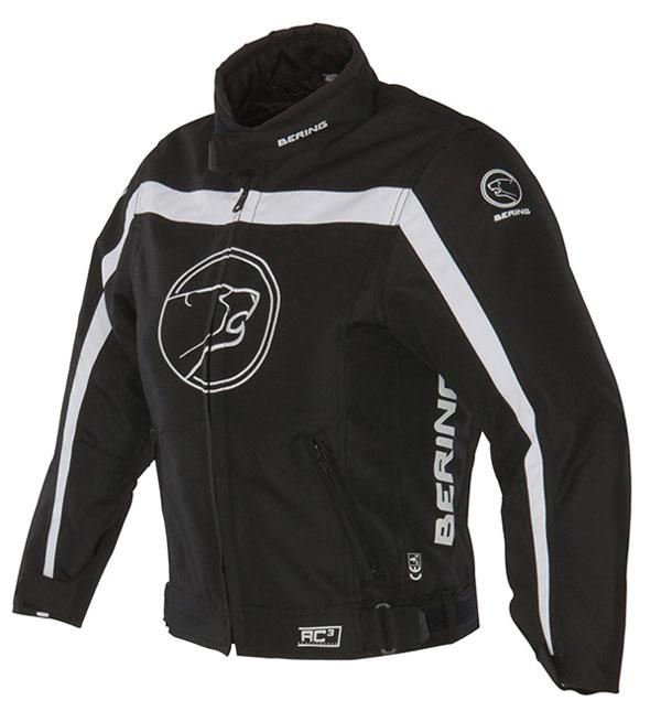 Approved Bering waterproof motorcycle jacket child Dink Black