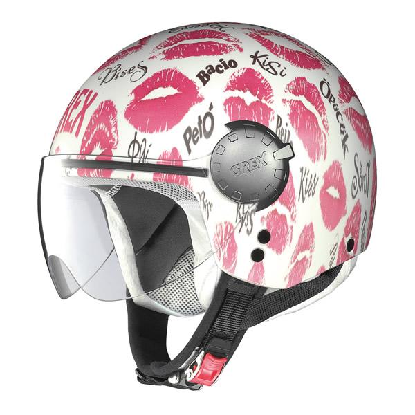 Helmet demi jet Grex DJ1 City Artwork white kiss