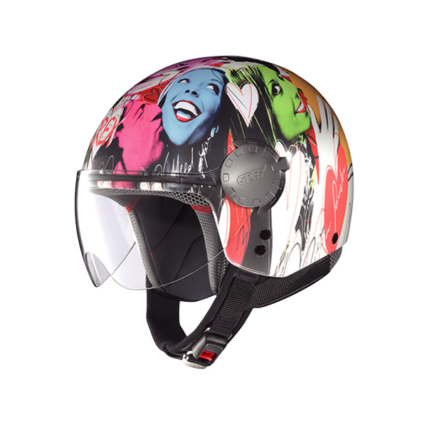 Casco moto Grex DJ1 City Artwork white 137