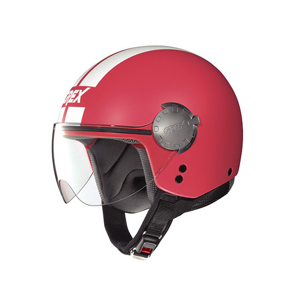 Grex DJ1 City Stripes demi-jet helmet flat coral