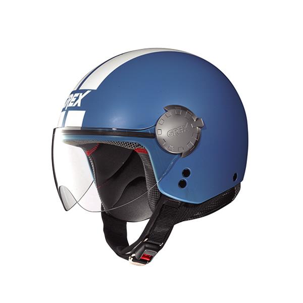 Grex DJ1 City Stripes demi-jet helmet flat cornflower