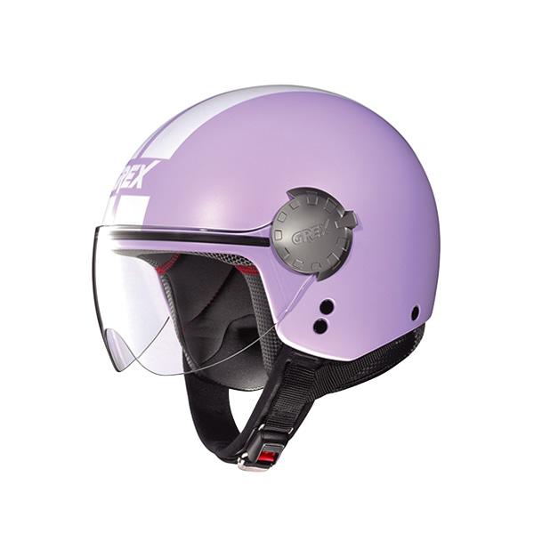 Casco moto Grex DJ1 City Stripes Flat lavender