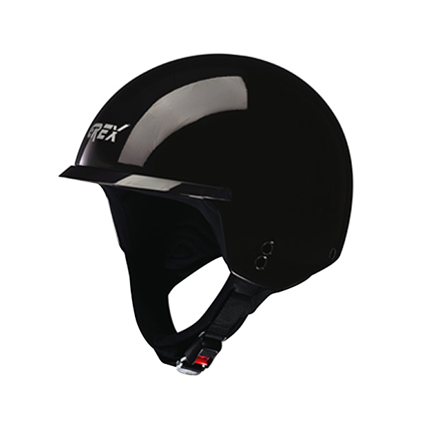 Casco moto Grex DJ1 Peak One nero lucido