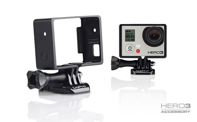 Structure for mounting GoPro homes without Frame