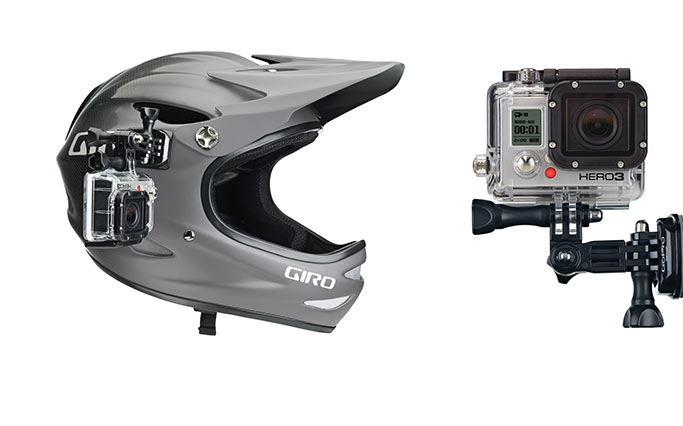 Side mounting system for helmet GoPro Side Mount