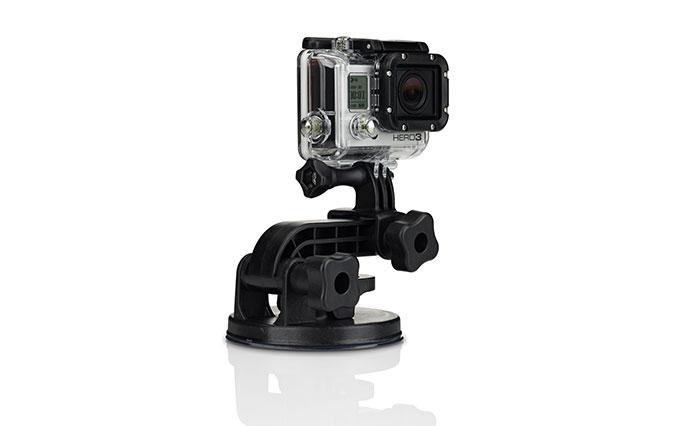 GoPro suction fixing