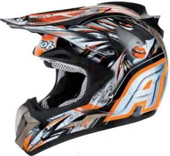 Airoh Dome C5 off-road helmet orange gloss