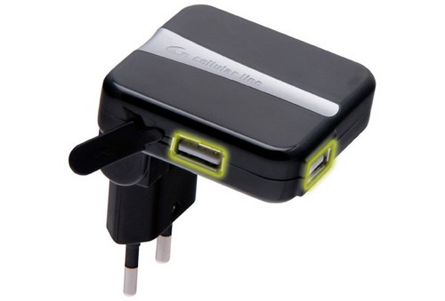 Battery charger with dual USB plug Cellular Line
