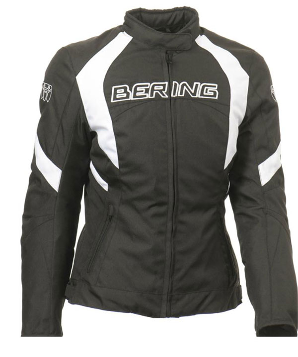Motorcycle jacket woman Approved Bering Douchka Black White