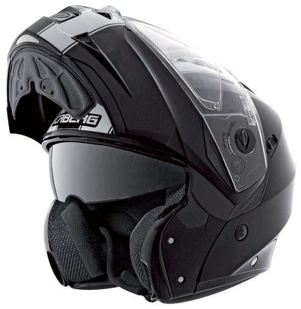 Caberg DUKE LEGEND flipp off helmet Black White
