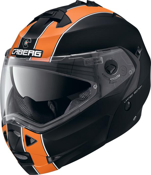 Caberg DUKE LEGEND flip off helmet matt black orange