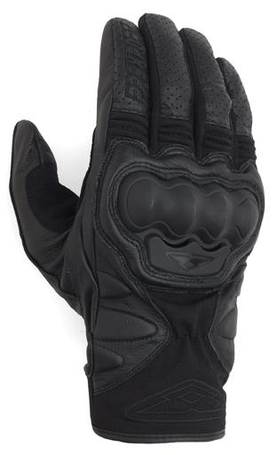 Prexport Eagle leather gloves Black
