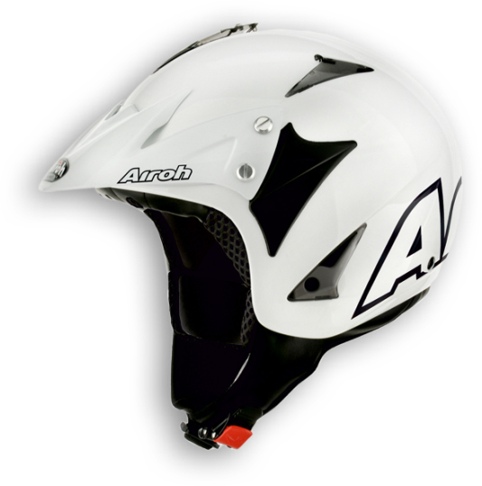 Casco moto off-road Airoh Evergreen Color bianco lucido