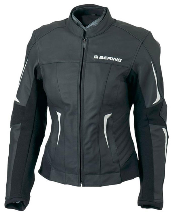 Woman leather motorcycle jacket Bering Approved Eclipse Black