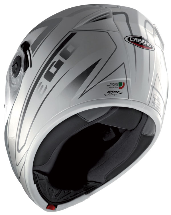 Casco integrale Caberg Ego Elite Bianco Antracite