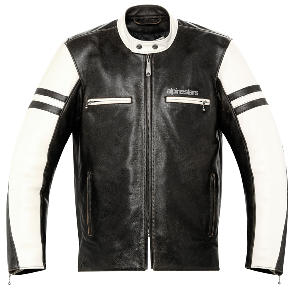 Alpinestars Eliminator leather jacket black-cream