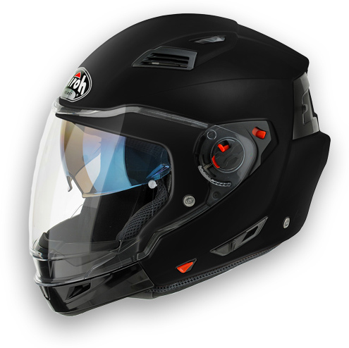 Casco moto crossover Airoh Executive Color nero opaco