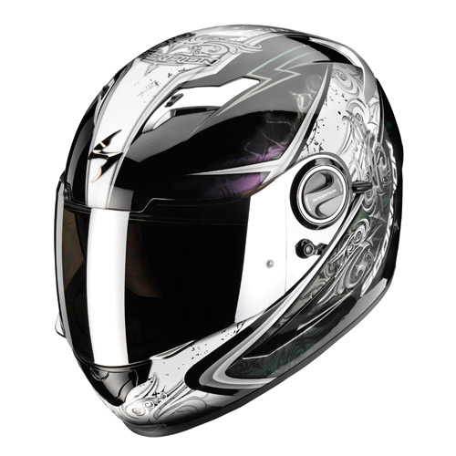 Casco integrale Scorpion Exo 500 Air Run Nero Camaleonte