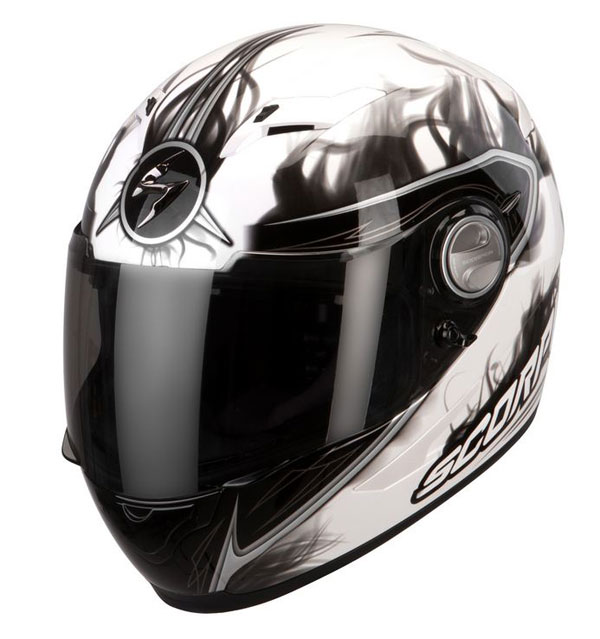 Casco integrale Scorpion Exo 500 Air Shadows Bianco Nero