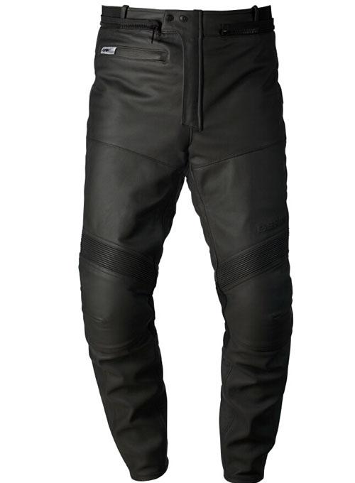 Leather motorcycle pants Approved Bering Explorer 2 Pro Black