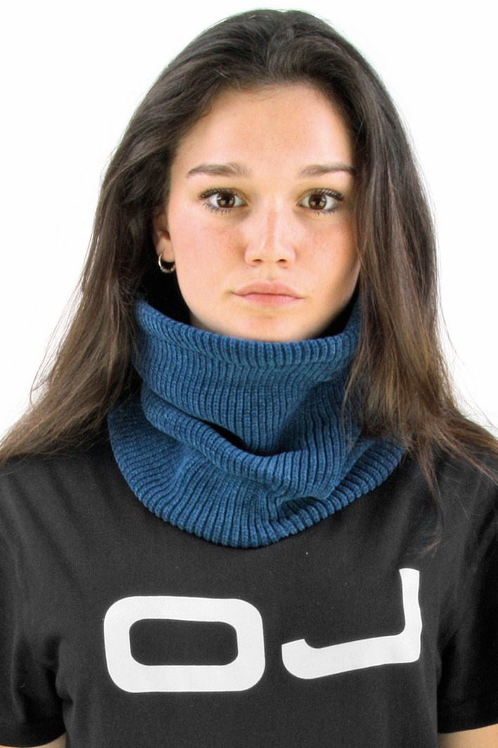 OJ Chenille neck warmer blue