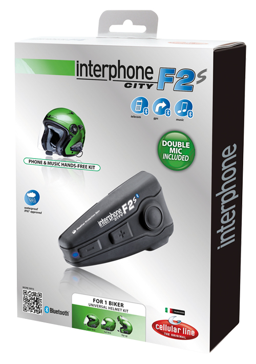 Interfono Cellular Line Interphone F2S City per un casco