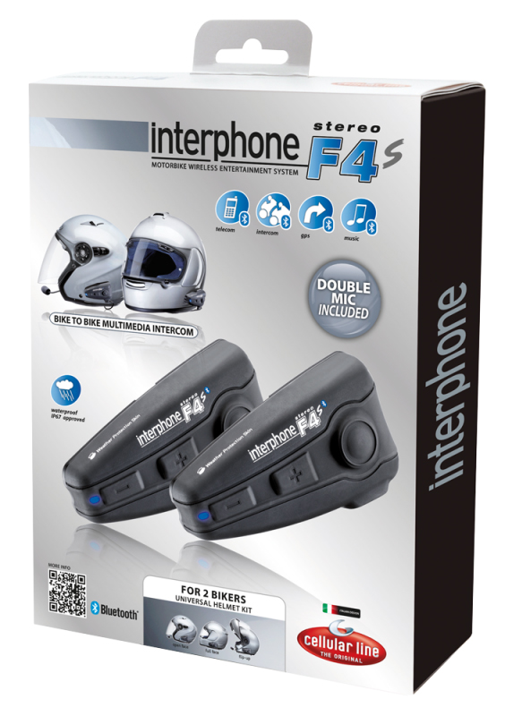 Cellular Line Interphone Bluetooth F4S Plus - 2 bikers