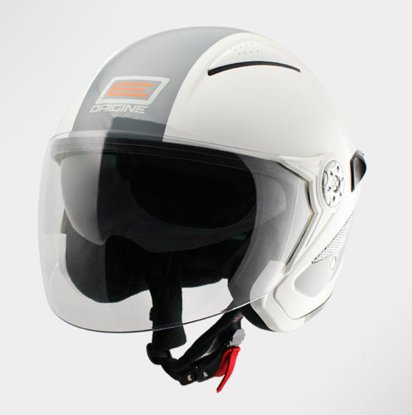 Origine Falco Retrò jet helmet with sun visor White-Grey