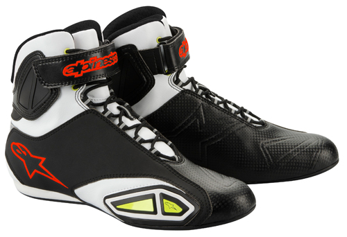Alpinestars Fastlane motorcycle shoes black-white-yellow