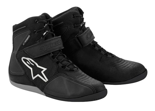 Scarpe moto Alpinestars Fastback Waterproof nero-bianco-grigio