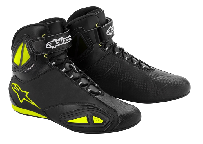 Alpinestars Fastlane Waterproof motorcycle shoes black yellow fl