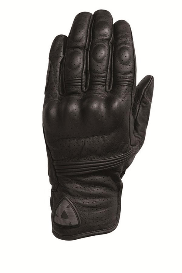 Woman leather motorcycle gloves Rev'it Summer Fly Black