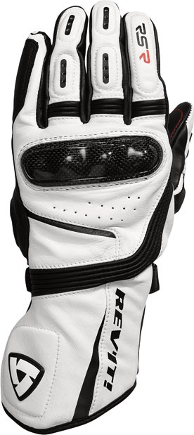 Rev'it RSR leather gloves white black