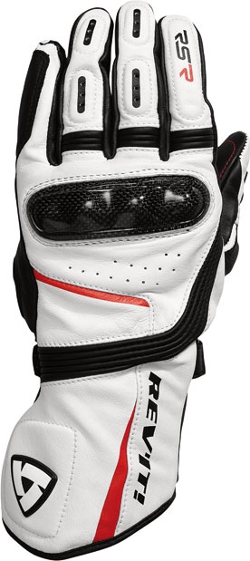 Rev'it RSR leather gloves white red