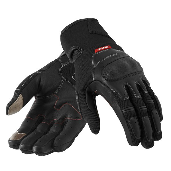 Guanti moto pelle estivi Rev'it Striker Nero
