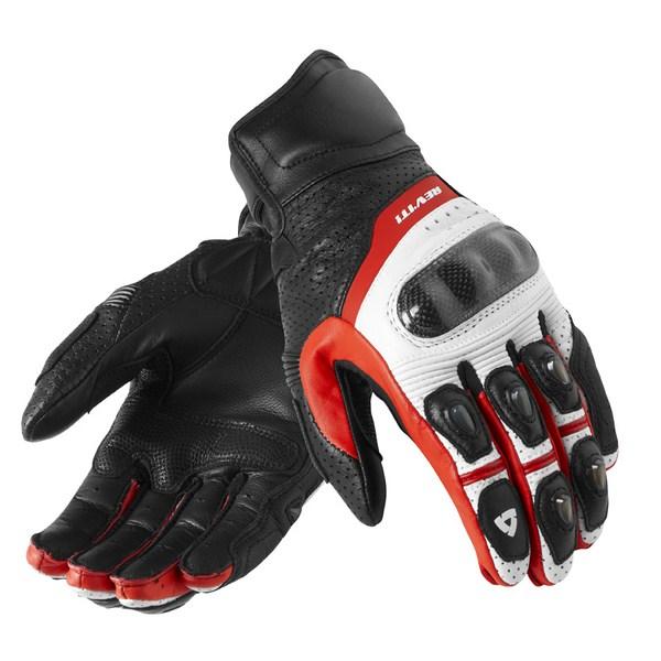Rev'it Chevron leather summer gloves White-red