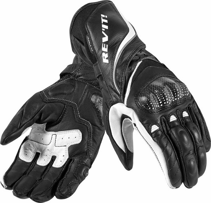 Rev'it Xena Ladies leather gloves black white