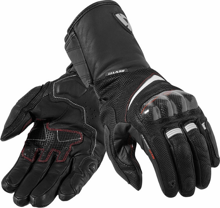 Rev'it Vapor H2O leather gloves black white