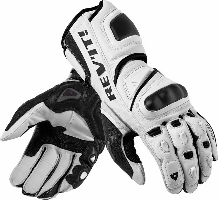 Rev'it Jerez Pro leather gloves white black