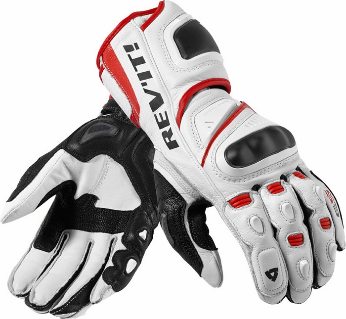 Rev'it Jerez Pro gloves white - red