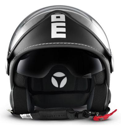 Momo Design Fighter Plus jet helmet Matt Black