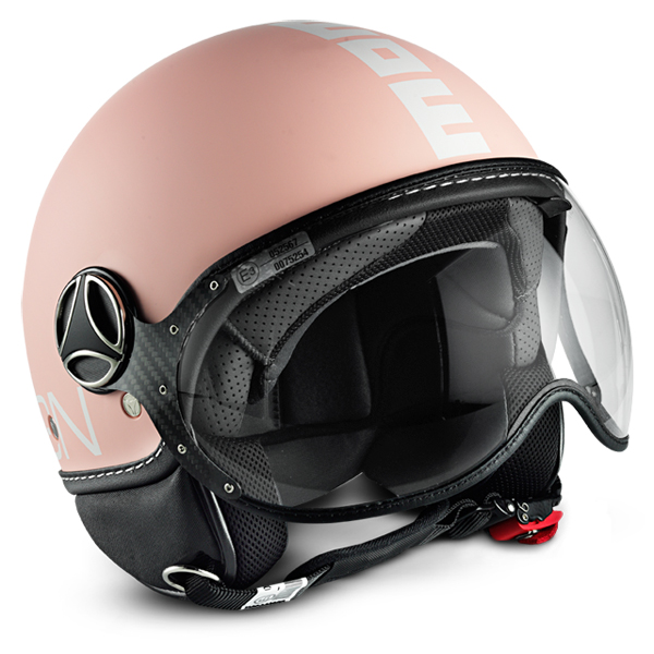 Casco jet Momo Design Fighter Plus Rosa