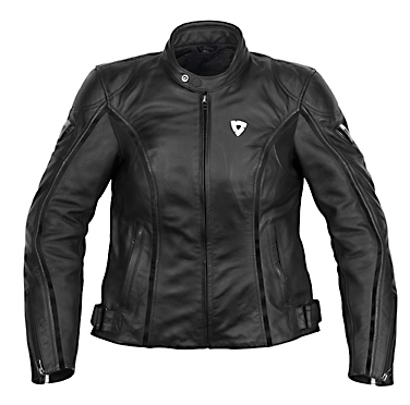 Giacca moto donna in pelle Rev'it Zodiac Ladies nero