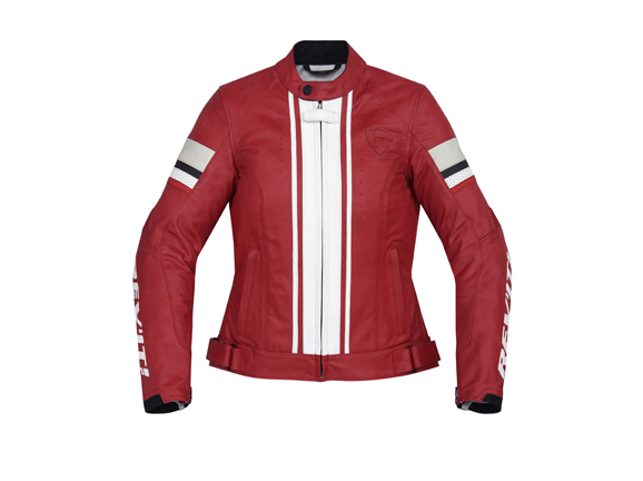 Giacca moto donna in pelle Rev'it CR Ladies Rosso-Bianco