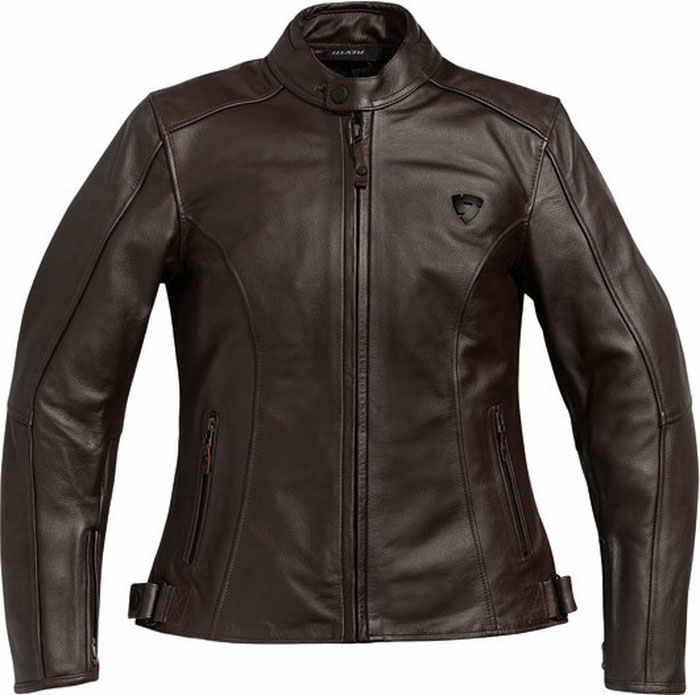 Rev'it Rebel Ladies motorcycle leather jacket brown