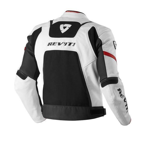 Leather motorcycle jacket Rev'it Galactic White Black