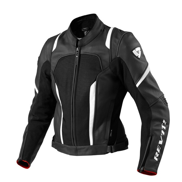 Women's leather motorcycle jacket Rev'it Galactic Black