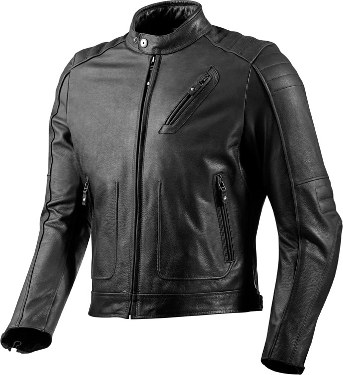 Giacca moto pelle Rev'it Redhook nera